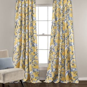"""Window Curtans Dolores Yellow 52 """"× 120"""" +2"""". New"""